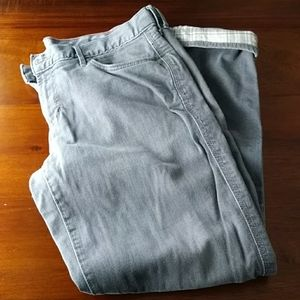 Flannel-lined jeans